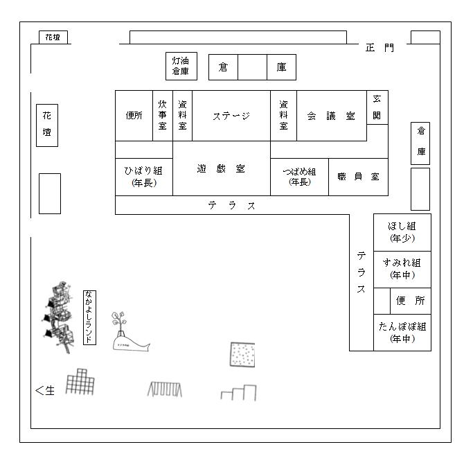 舟石川幼稚園園舎図